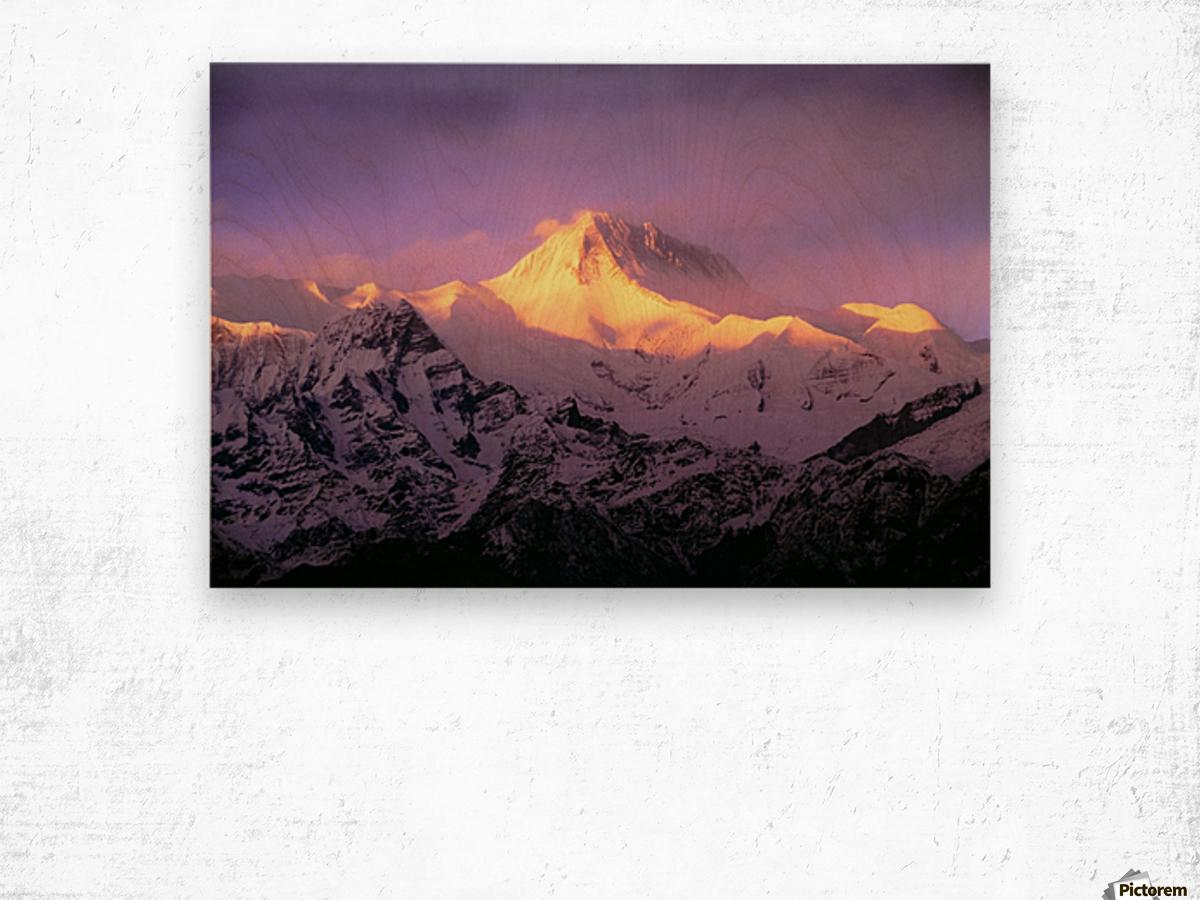 Annapurna South At Sunrise, Nepal Wood print