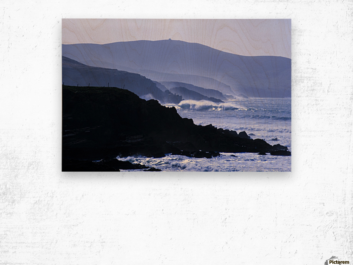 St Finian's Bay, County Kerry, Ireland, Bolus Head In The Background Wood print