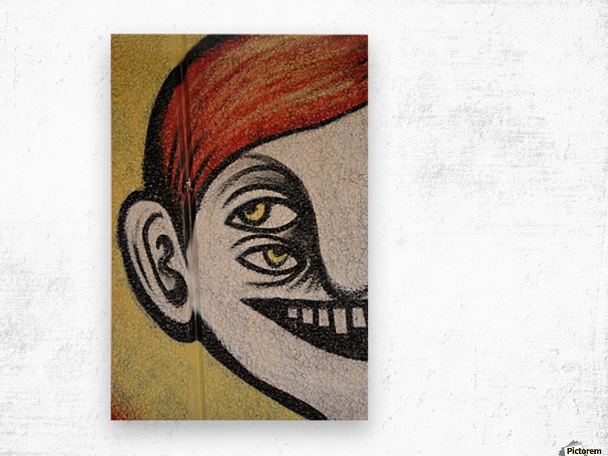 Half face Wood print