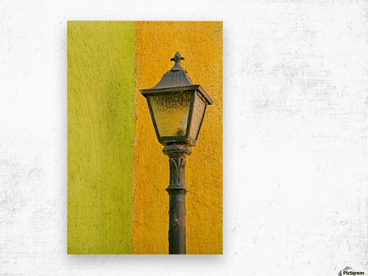 La Crucecita City, Bahias De Huatulco, Oaxaca State, Pacific Coast, Mexico; Lamp In Wood print