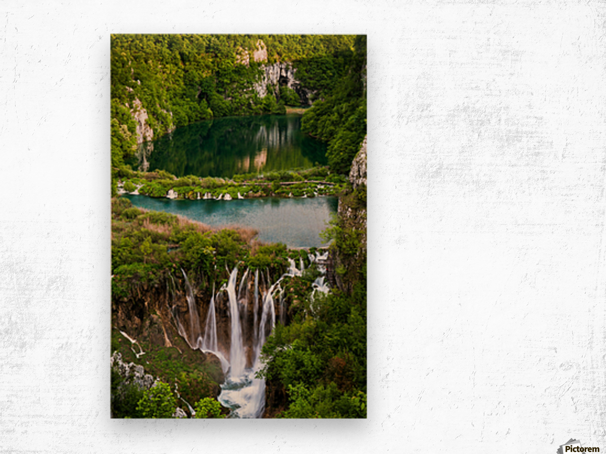 Waterfall Paradise Plitvice Lakes in Croatia Wood print