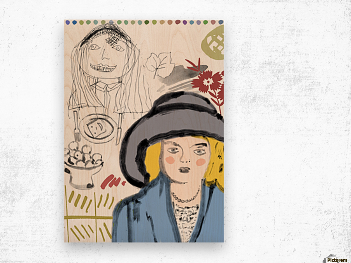 BIG HAT Wood print