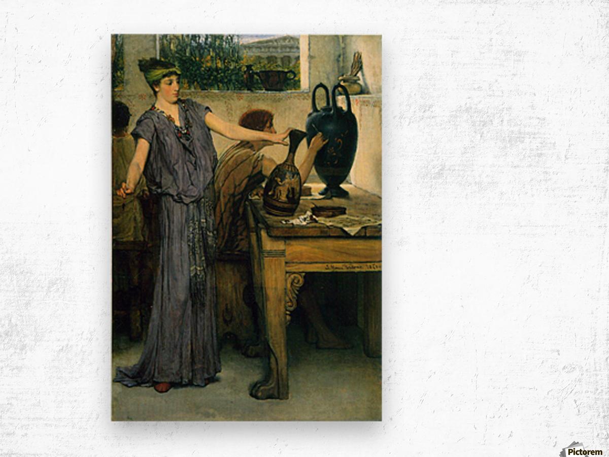 Pottery Painting by Alma-Tadema Wood print