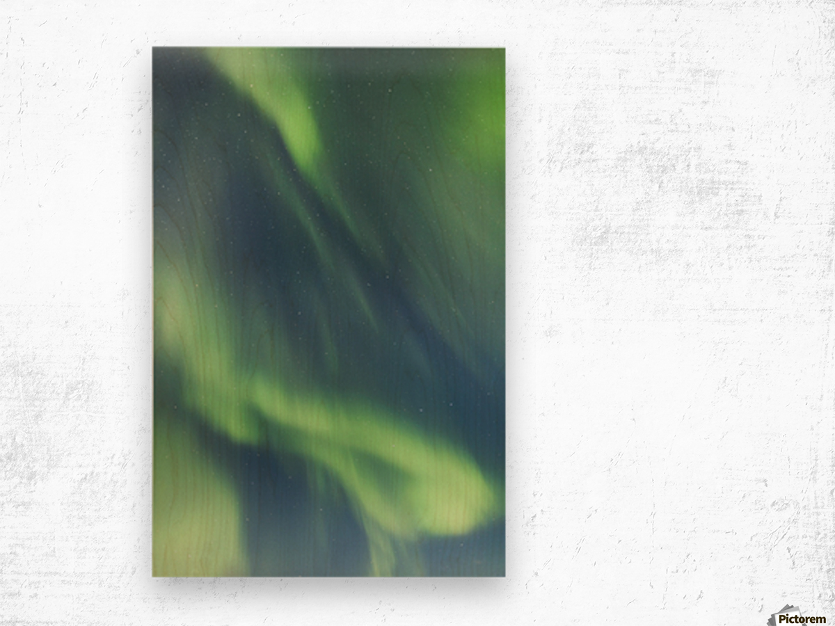 Northern Lights In The Sky Above The Chena Lakes Recreation Area; Fairbanks, Alaska, United States Of America Wood print