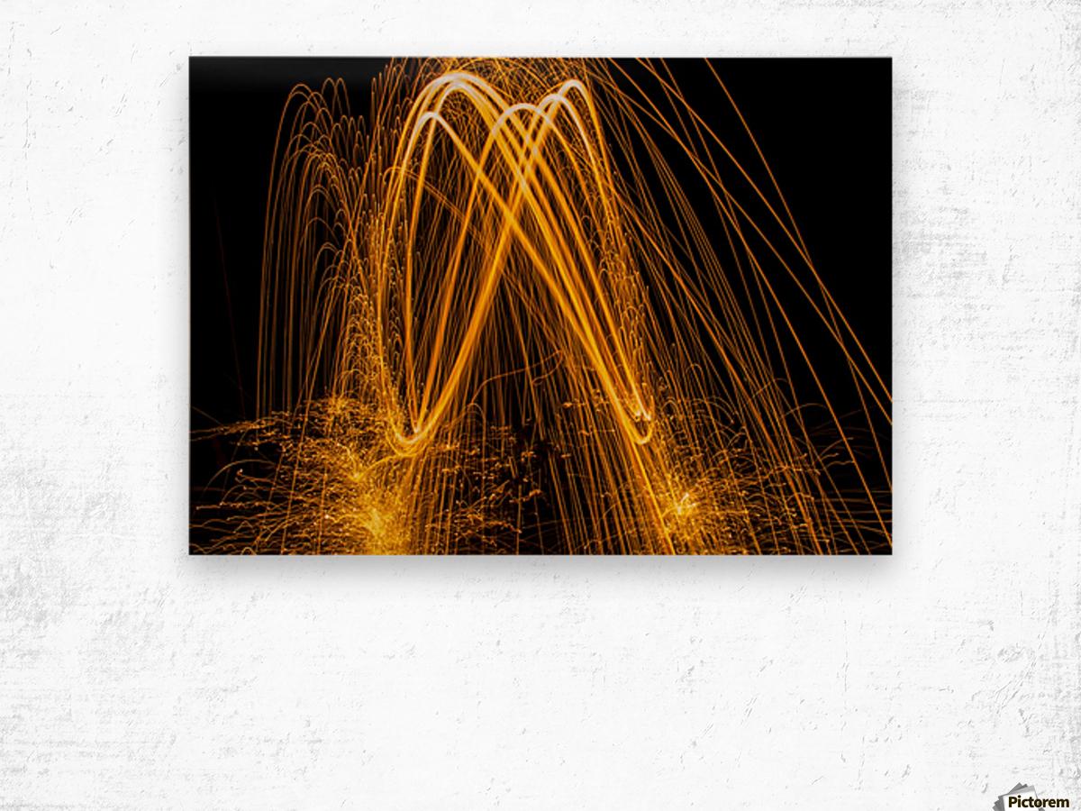 Spin 8 Wood print