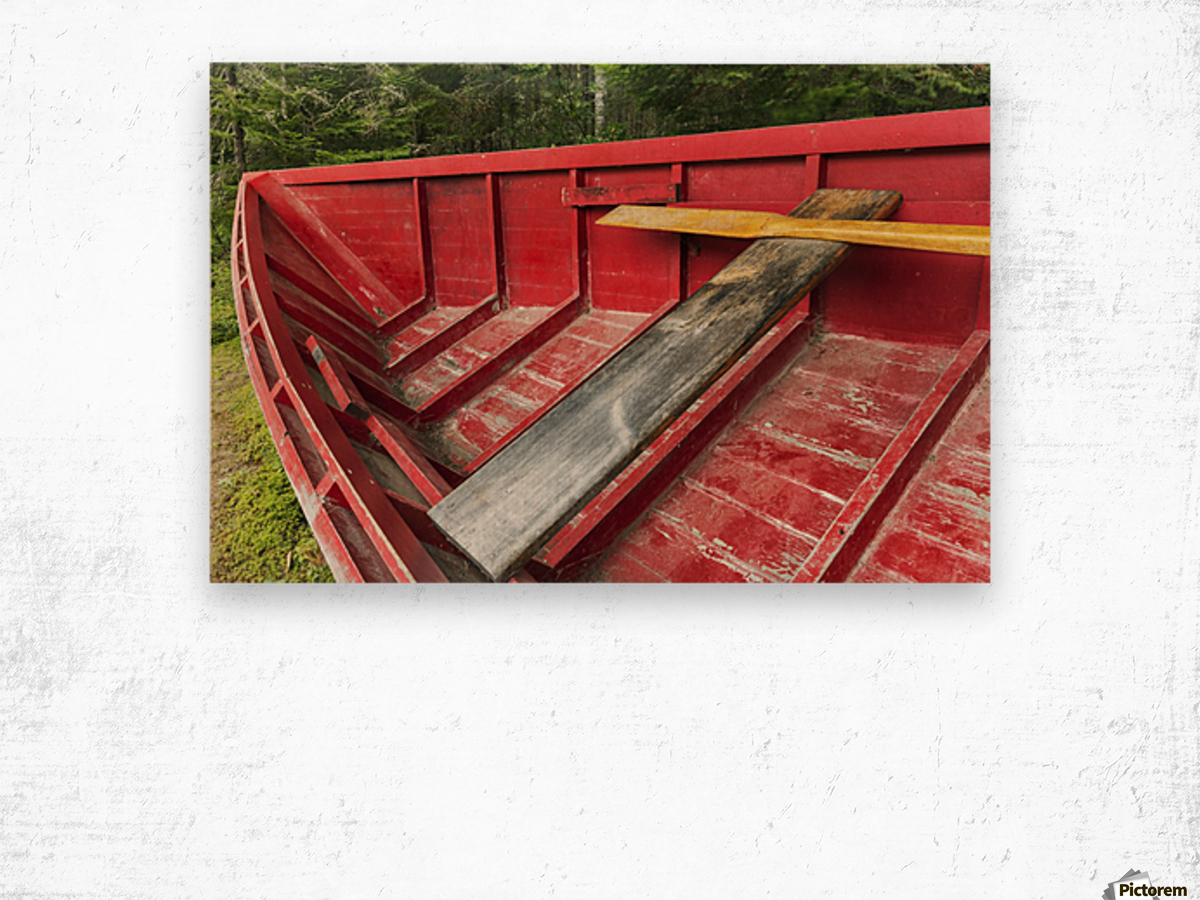 A 'Pointer' row boat designed in the mid 19th century for log driving, Algonquin Logging Museum, Algonquin Provincial Park; Ontario, Canada Wood print