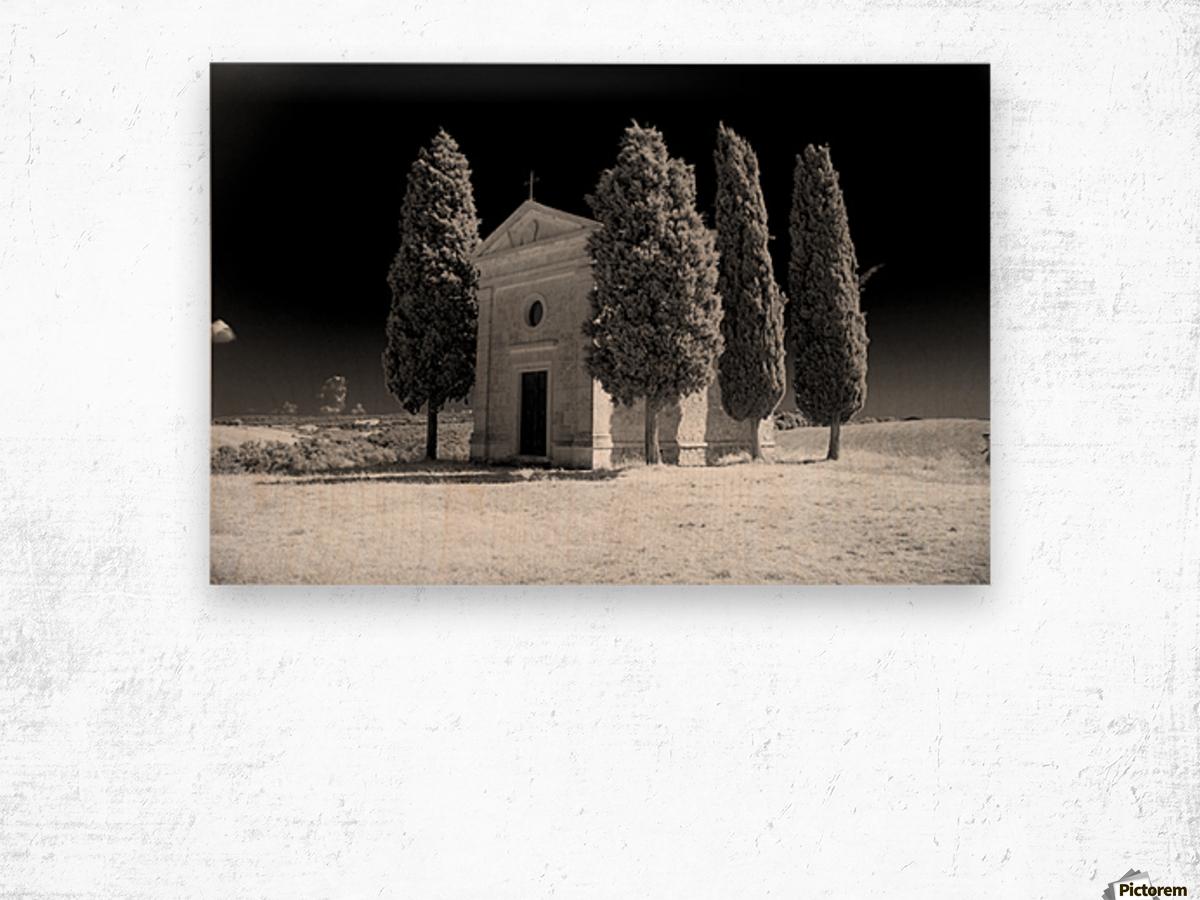 Tuscany Montalcino Wood print