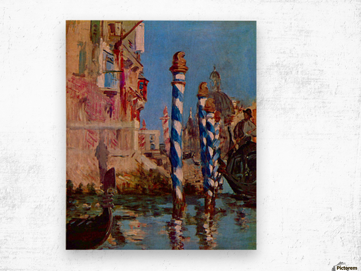 Grand Canal in Venice by Edouard Manet Wood print