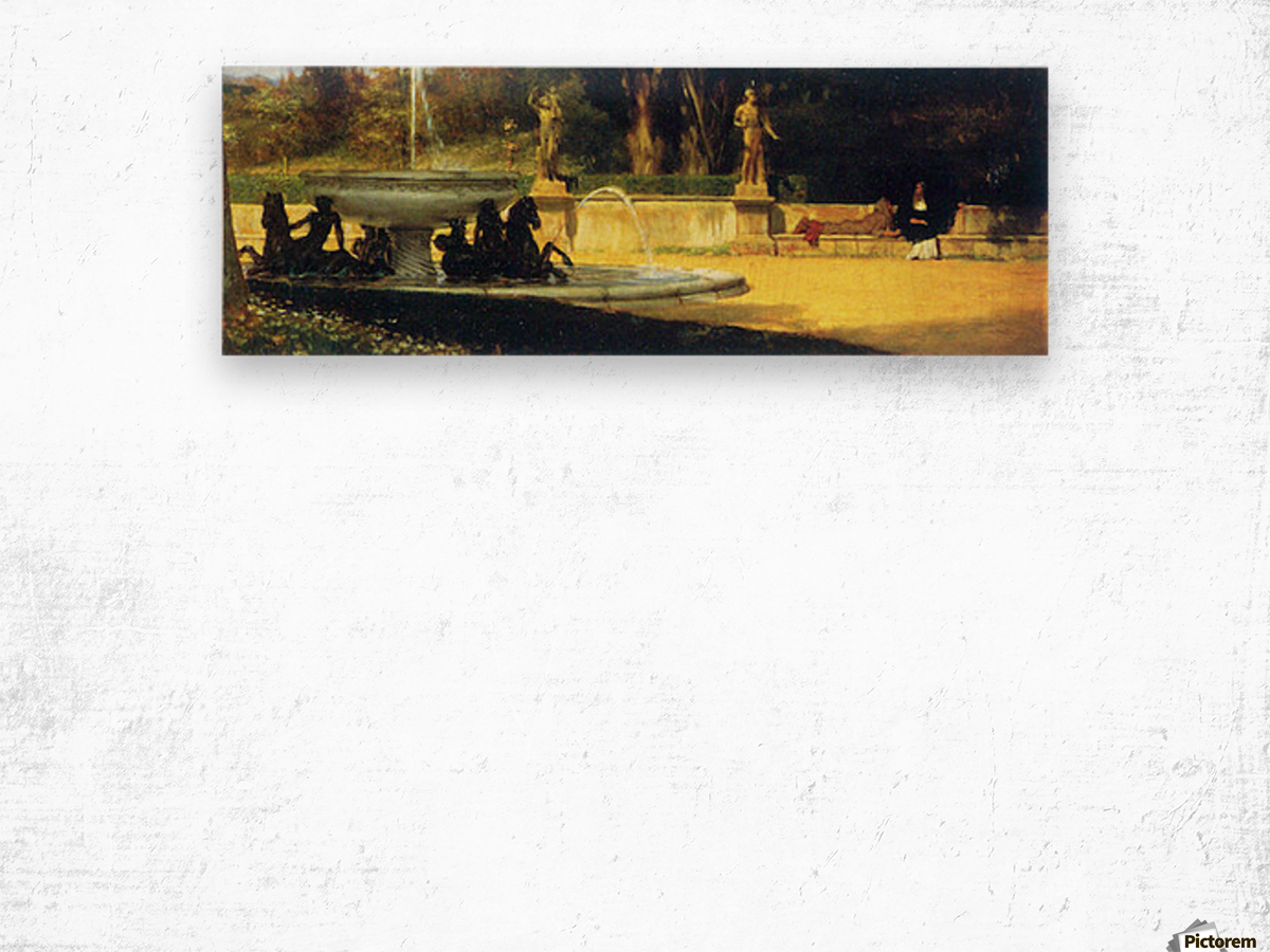 Roman Garden by Alma-Tadema Wood print