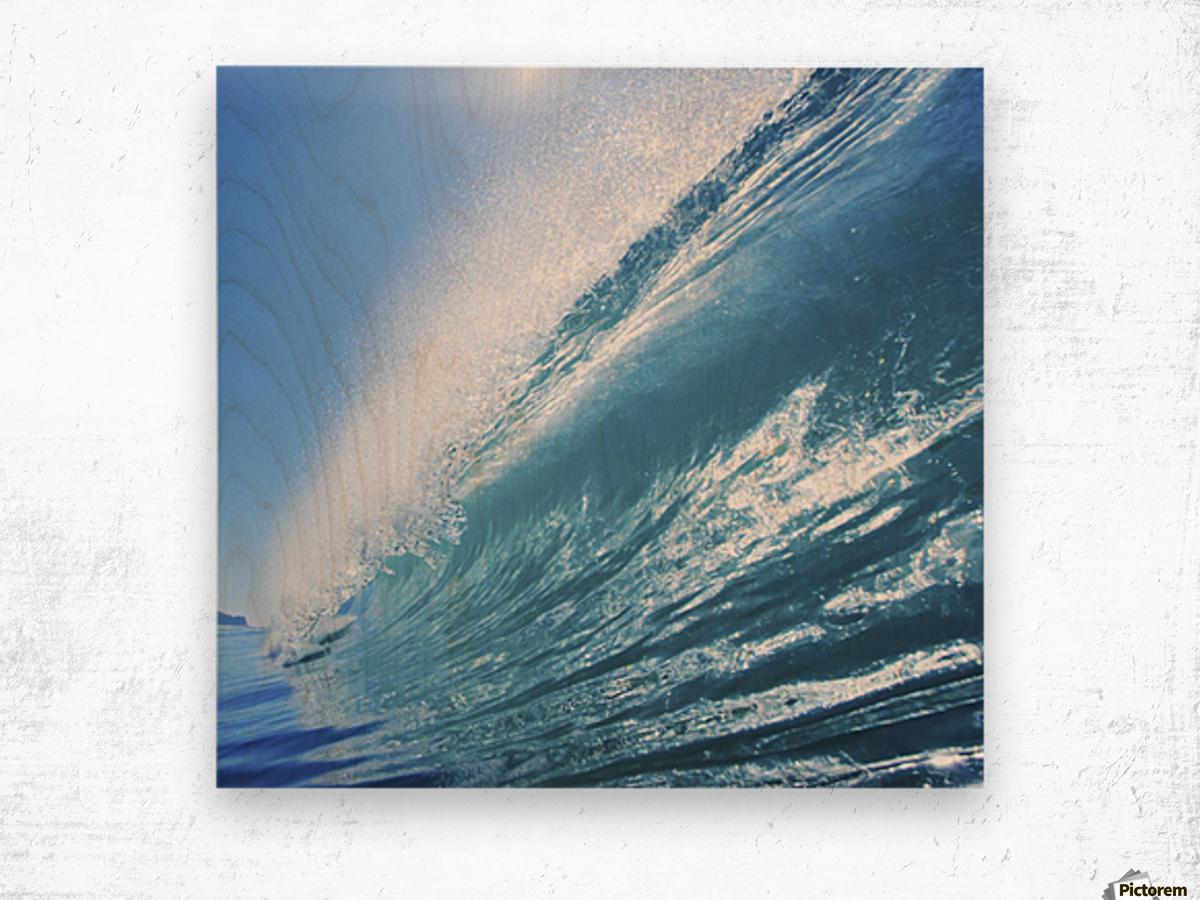 Blue Ocean Wave Wood print