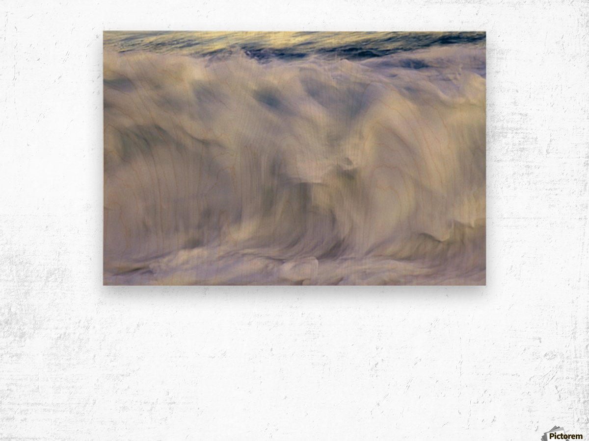 Ocean wave blurred by motion; Hawaii, United States of America Wood print