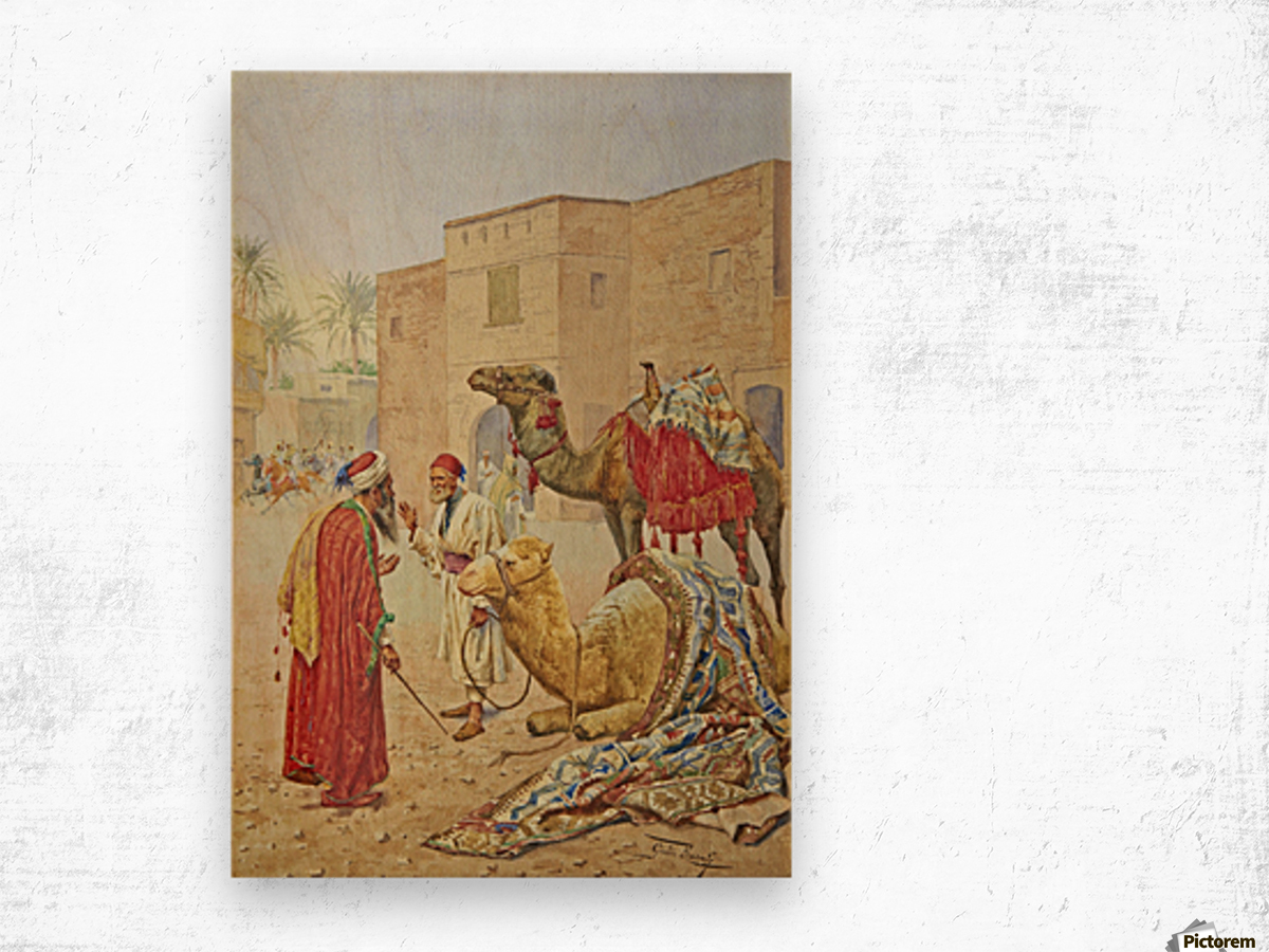 The camel seller Wood print