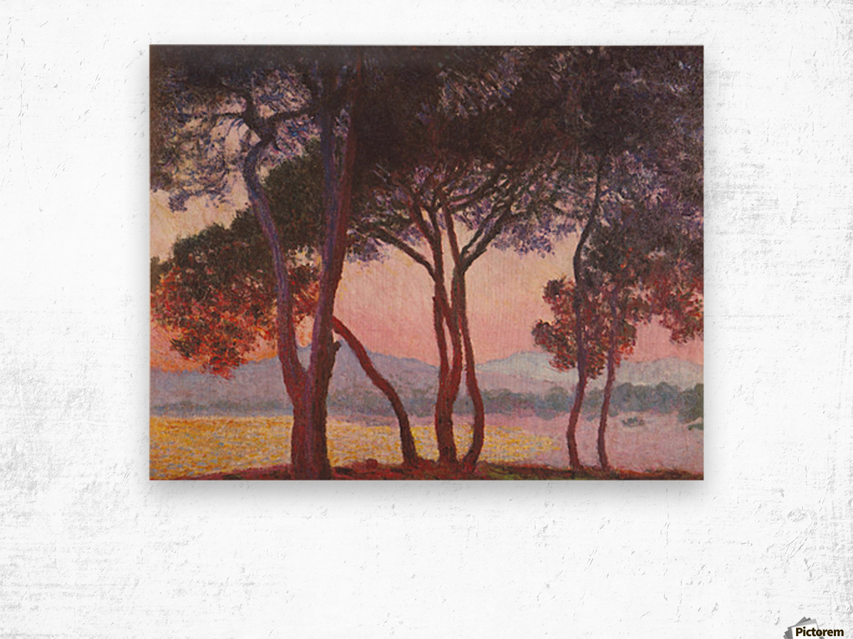 Juan les Pins by Monet Wood print