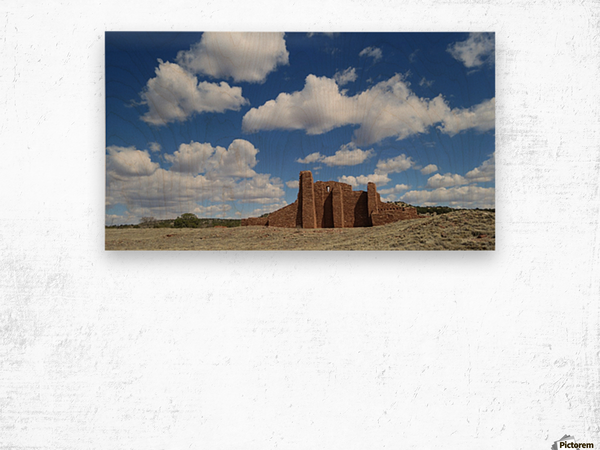 Ruins of Abo Pueblo  VP1 Wood print