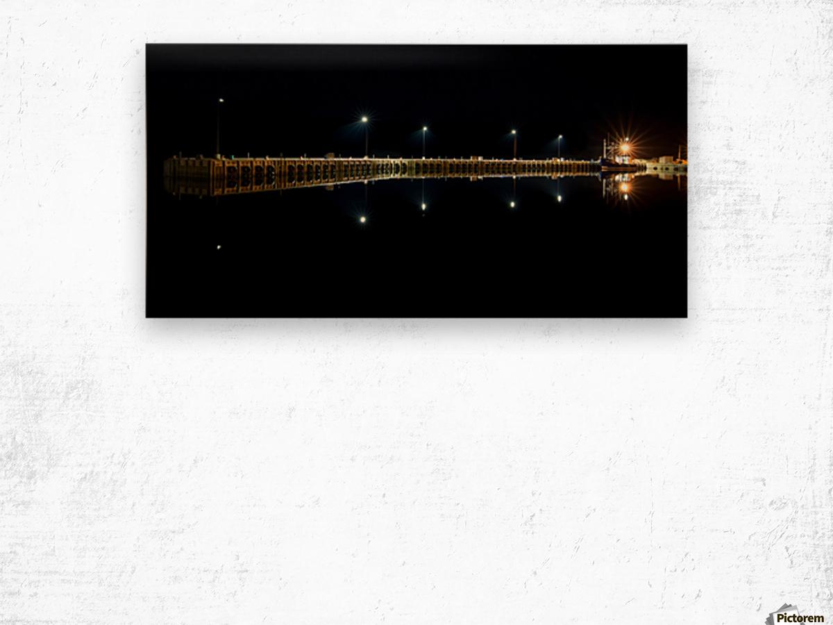 Nighttime at la Digue Wood print