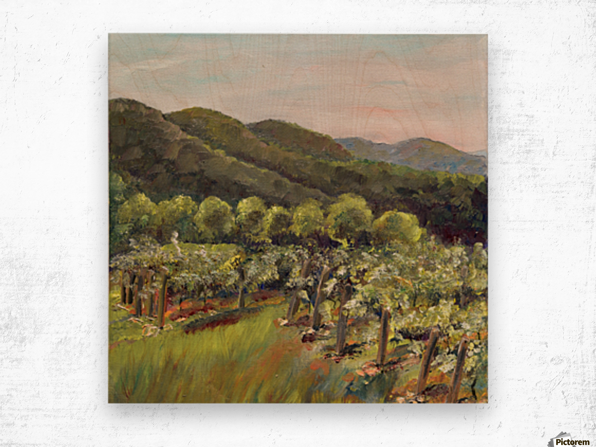 Fainting Goat Valley Best New Wood print