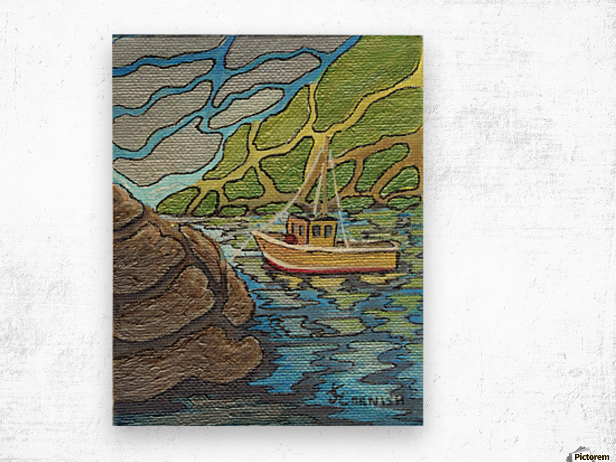 Little Harbor View Wood print