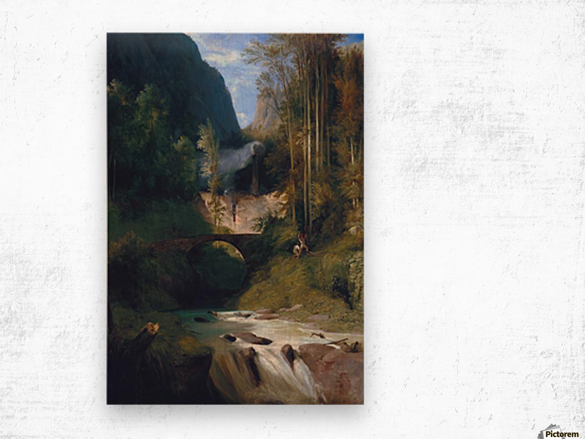 Schlucht bei Amalfi, 1831 Impression sur bois