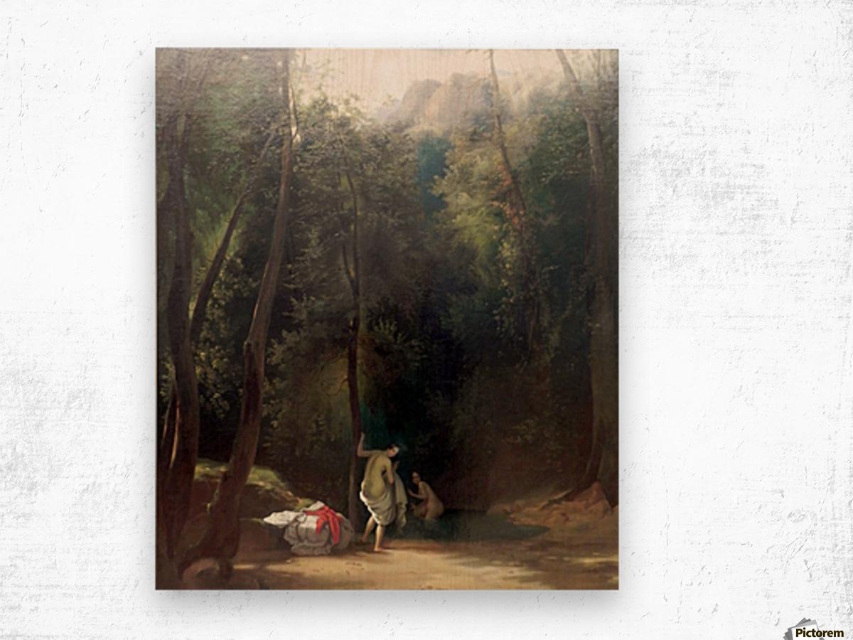 Badende Madchen im Park von Terni Impression sur bois