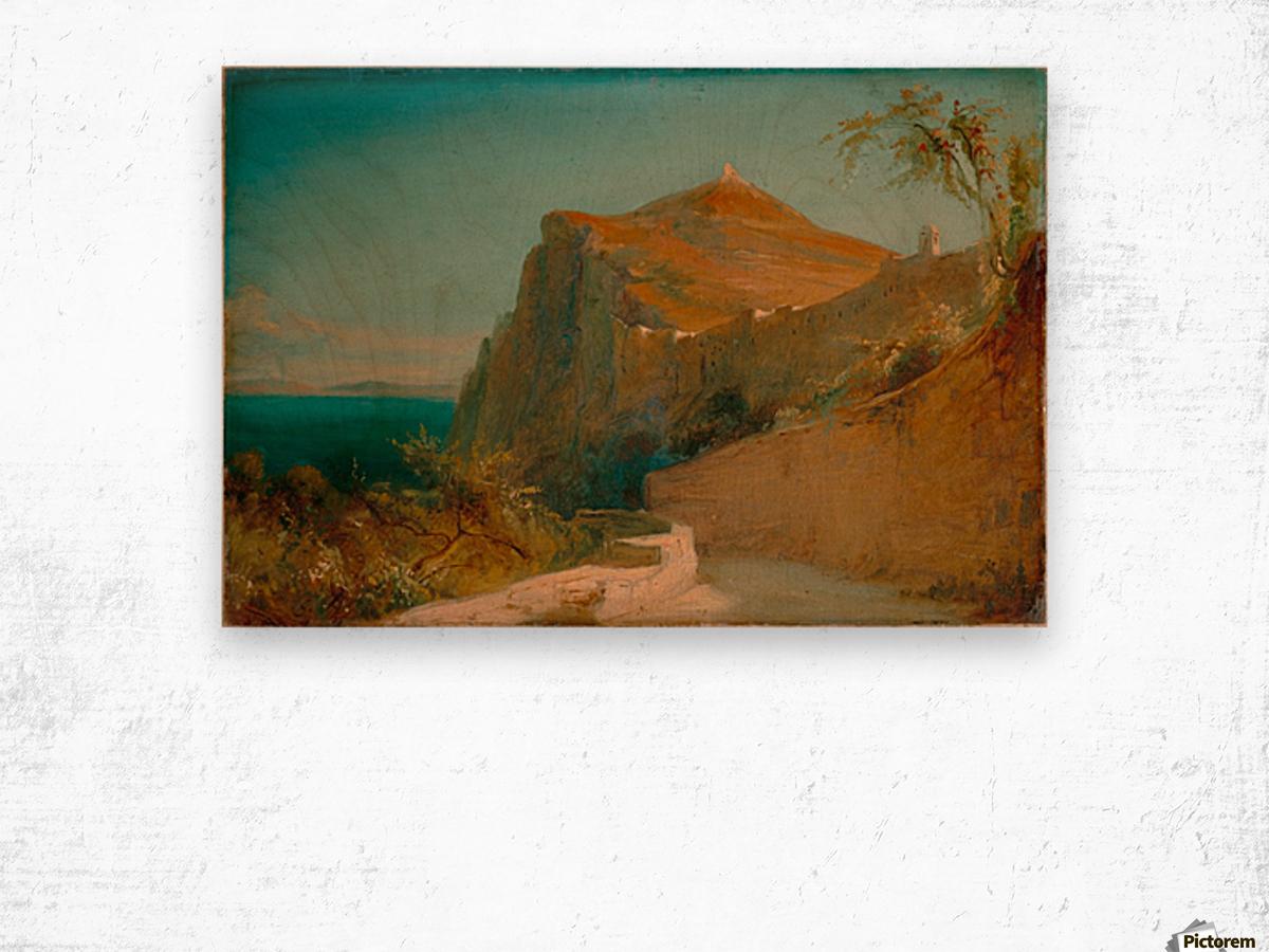 Tiberiusfelsen auf Capri Impression sur bois