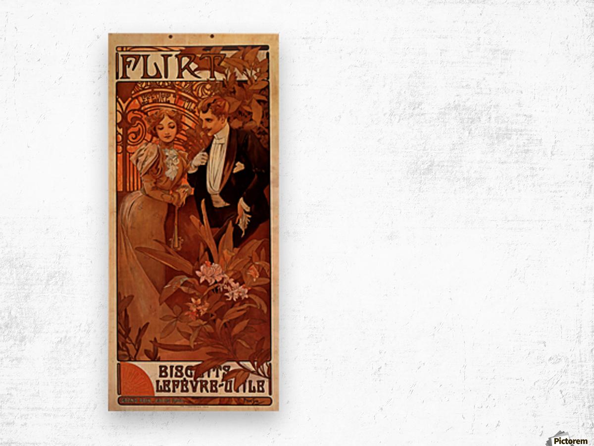 Flirt Lefevre Utile, 1899 Wood print