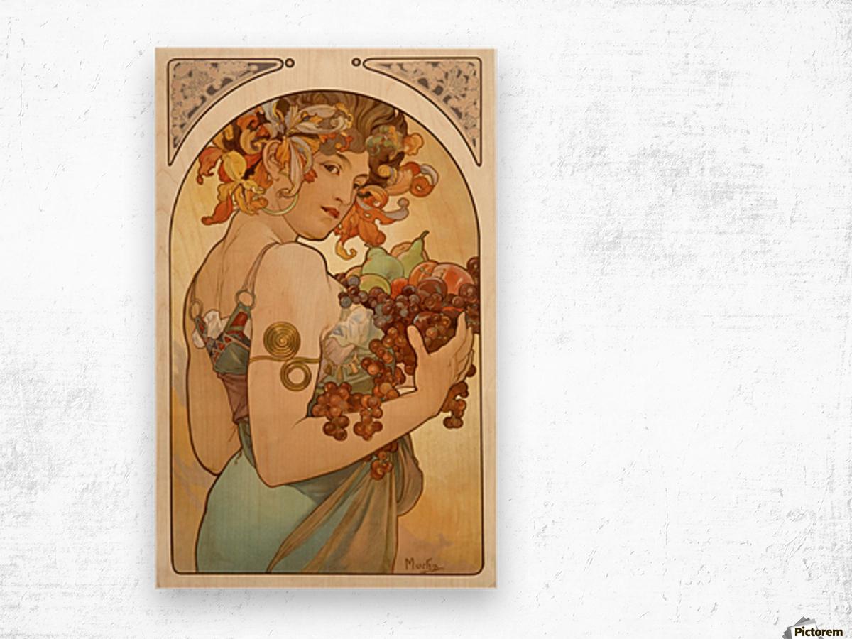 Fruit, 1897 Wood print