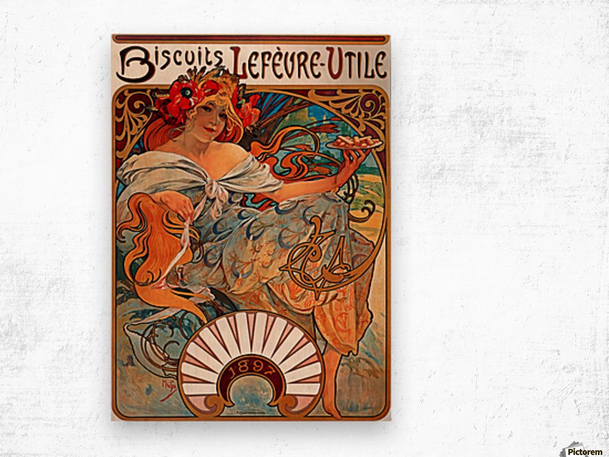 Biscuits Lefevre Utile, 1896 Wood print