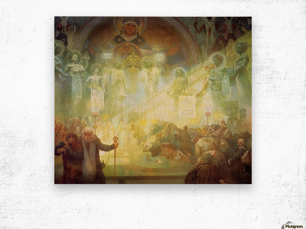 Holy Mount Athos, 1926 Wood print