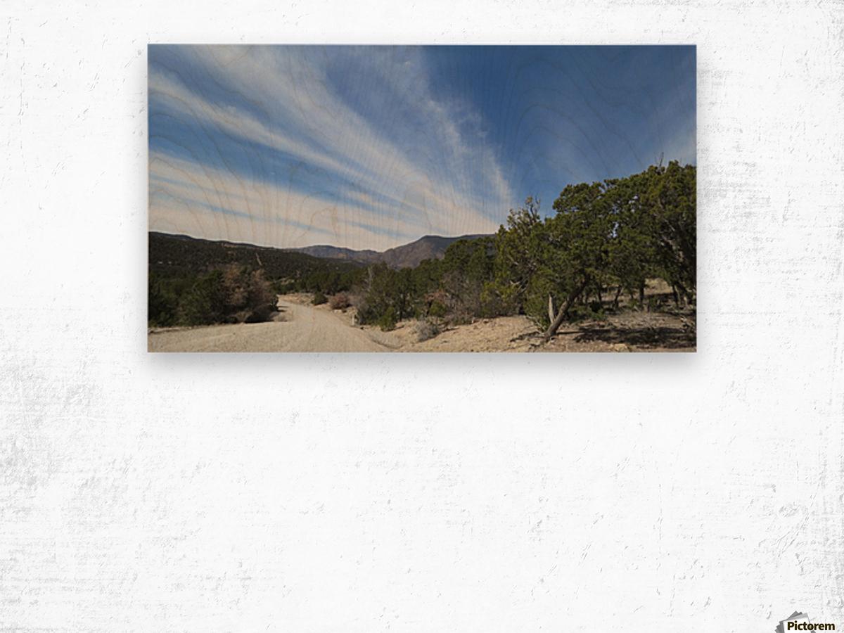 Manzano Mountains VP3 Wood print