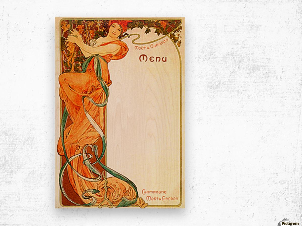 1899 Moet & Chandon menu Wood print