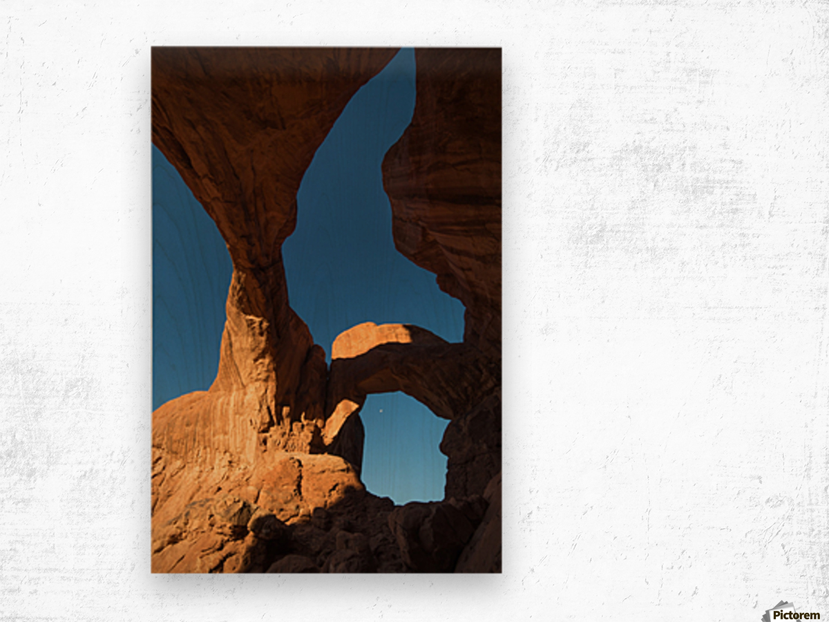 Below Double Arch Wood print