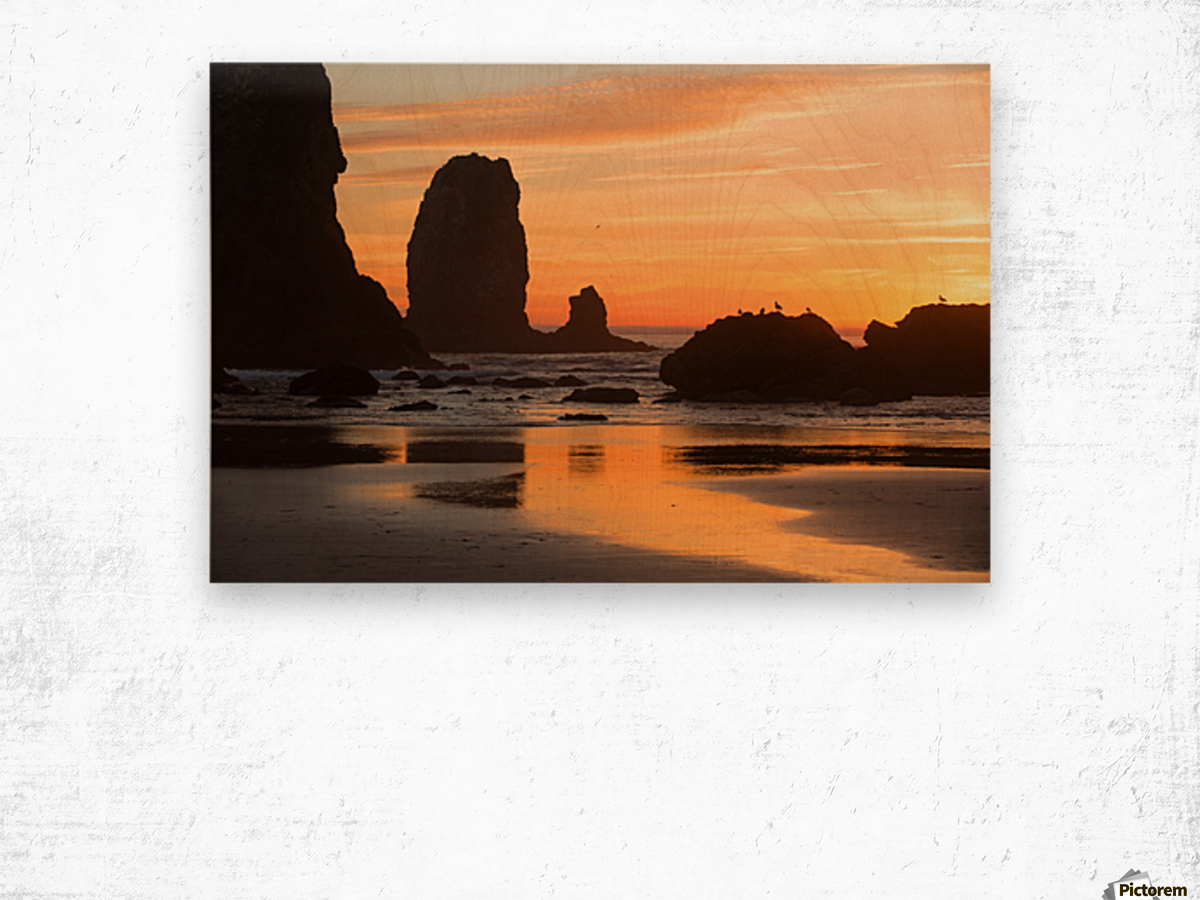 Pacific Afterglow Wood print