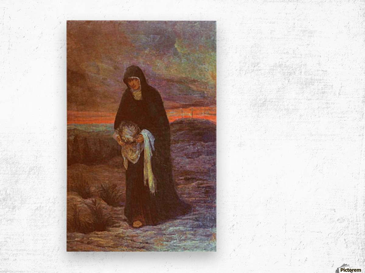 The sorrows of Mother Mary Wood print