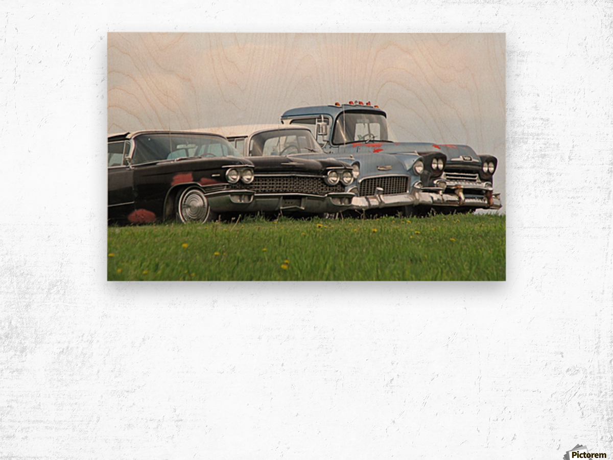 Old Cars on Grave Run Road VP2 Wood print