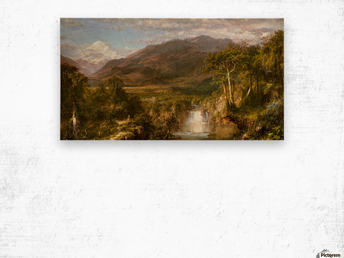 The Heart of the Andes Wood print