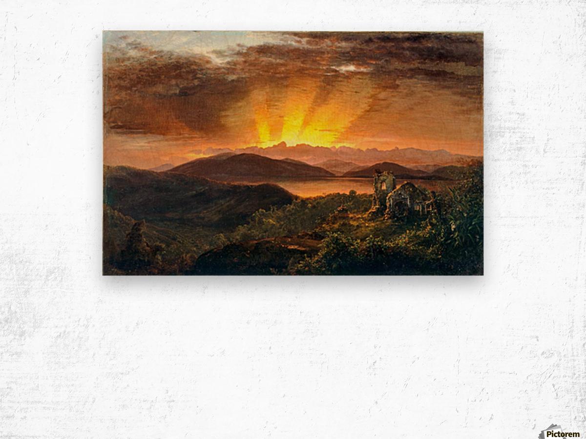 Sunrise on a valey Wood print