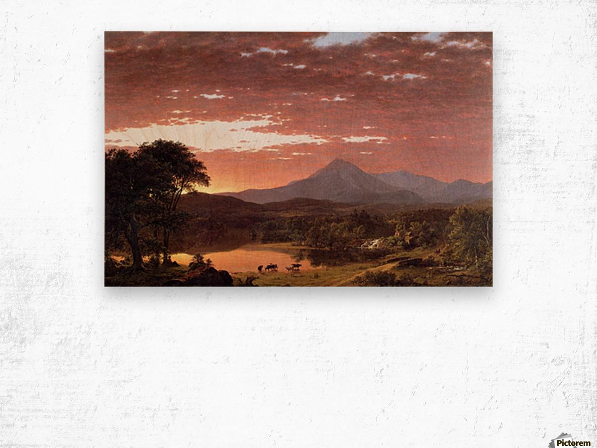Mount Ktaadn aka Mount Katahdin 1853 Wood print
