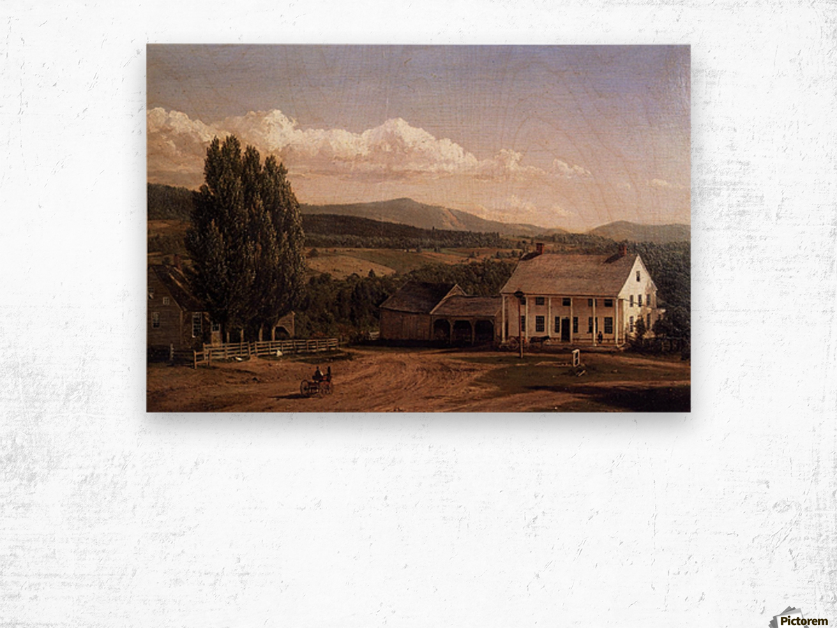 View in Pittsford Vt 1848 Wood print