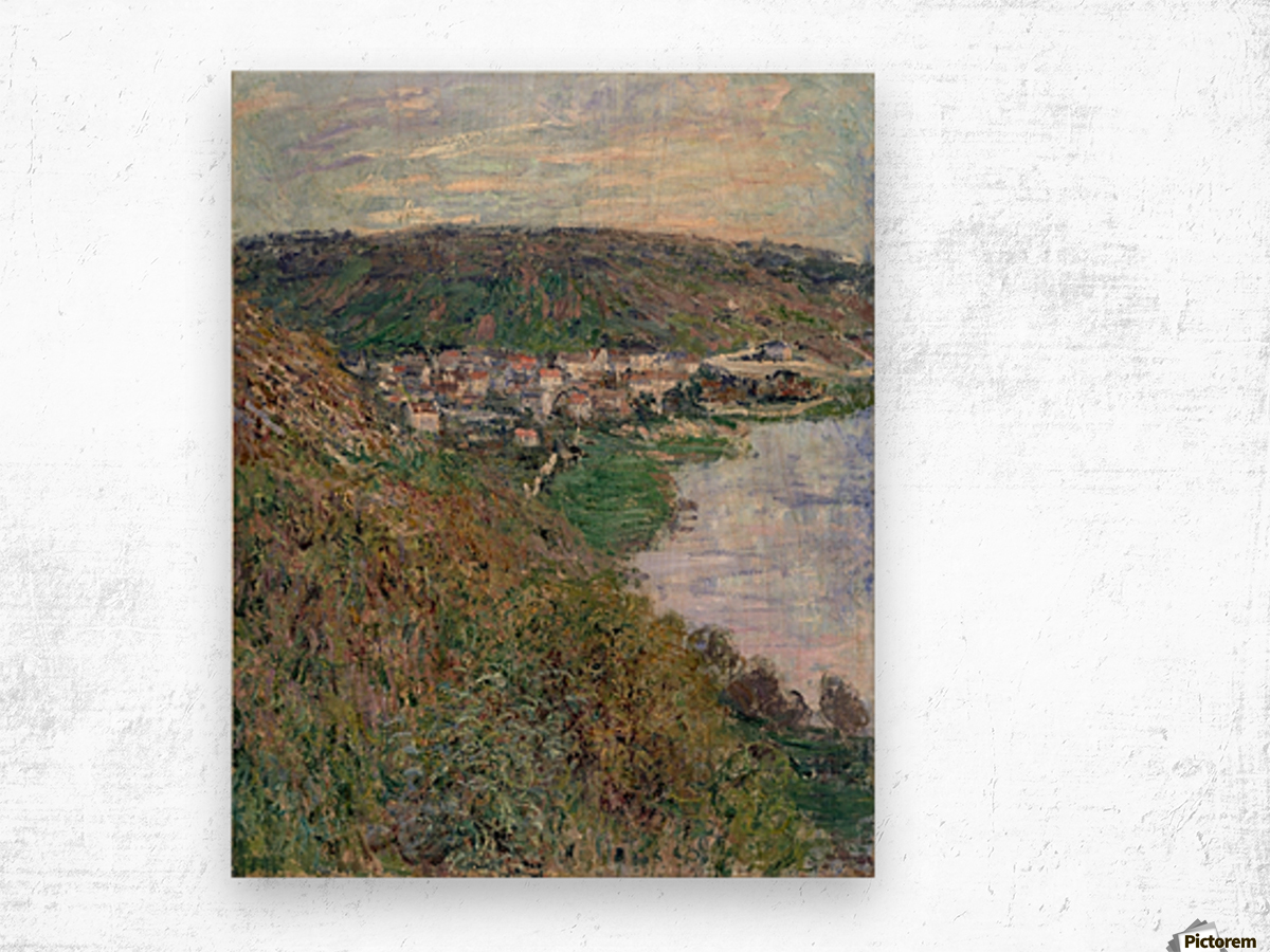 Monet - View of Vetheuil Wood print