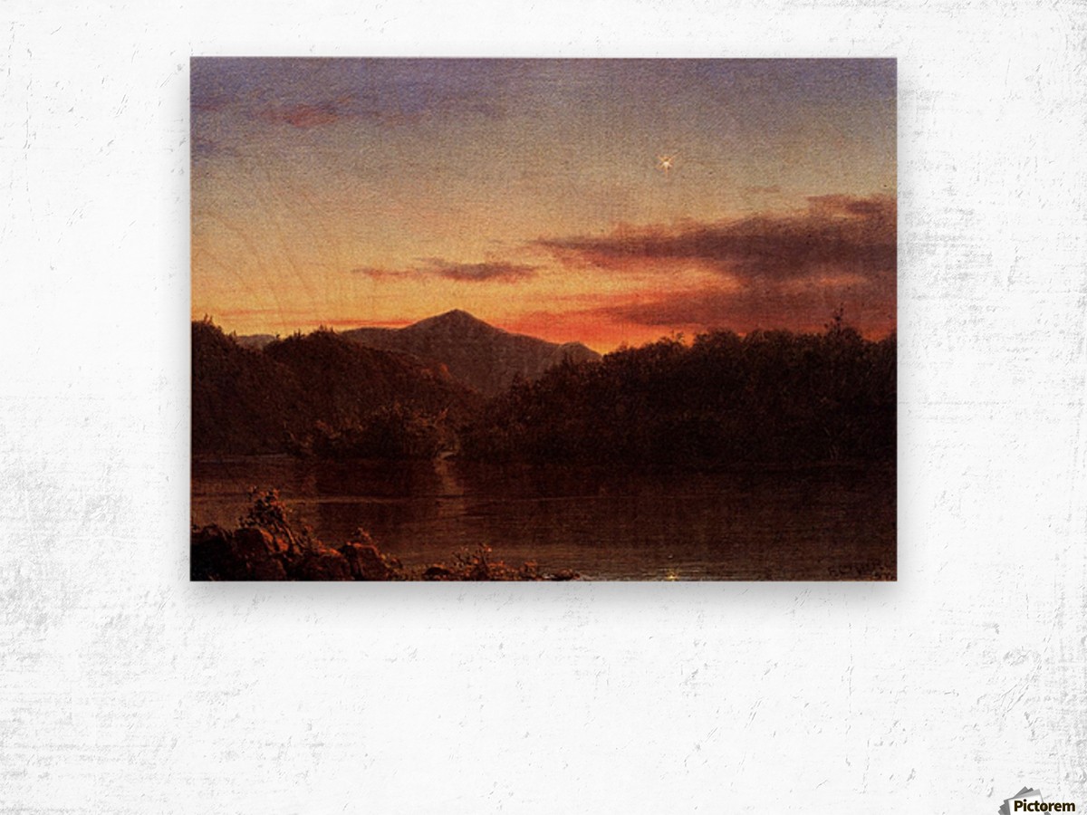 The Evening Star 1859 Wood print