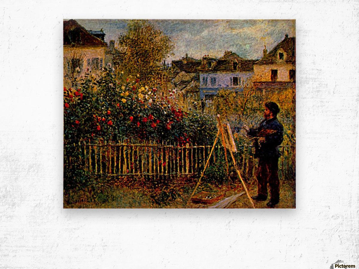 Monet painting in his garden in Argenteuil Wood print
