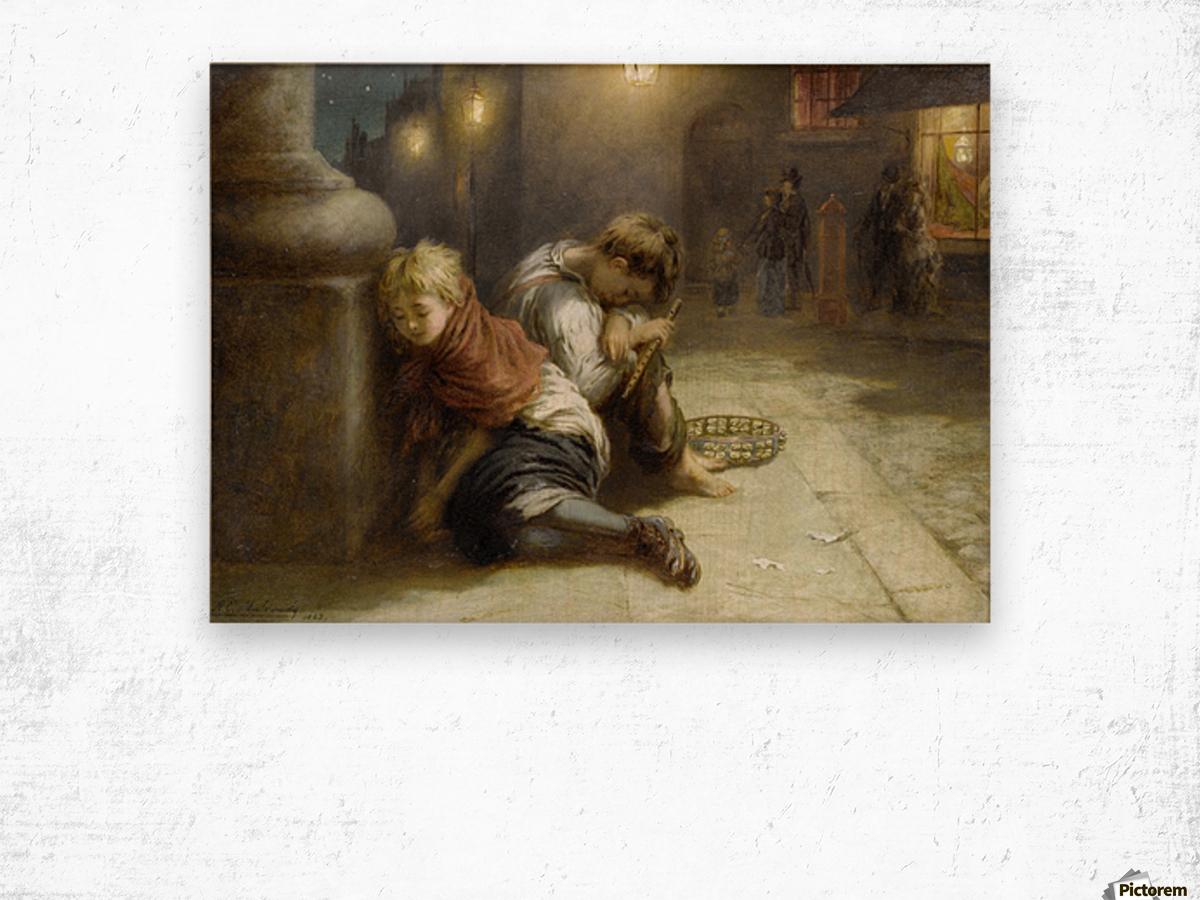 Fatigued Minstrels 1883 Impression sur bois