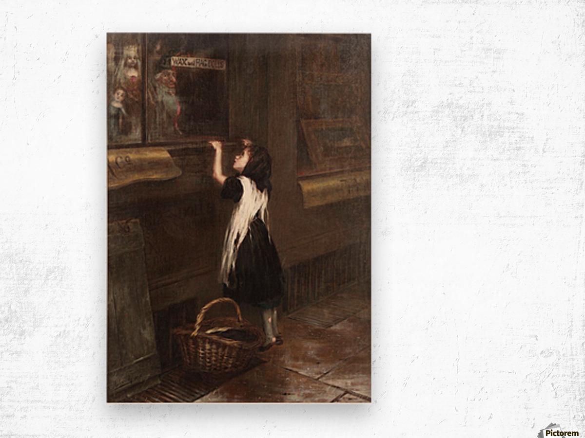 A girl in a black dress Impression sur bois