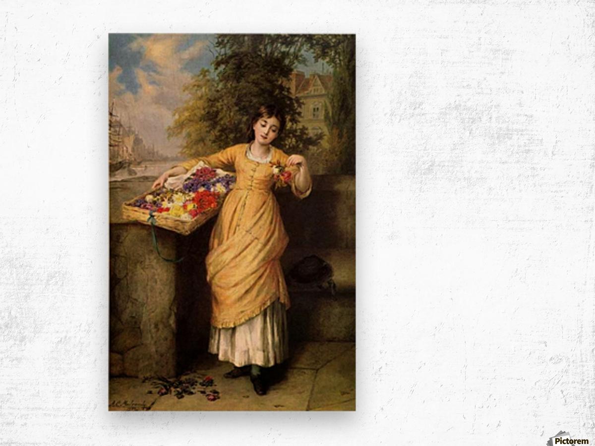 Selling muticolored flowers Impression sur bois