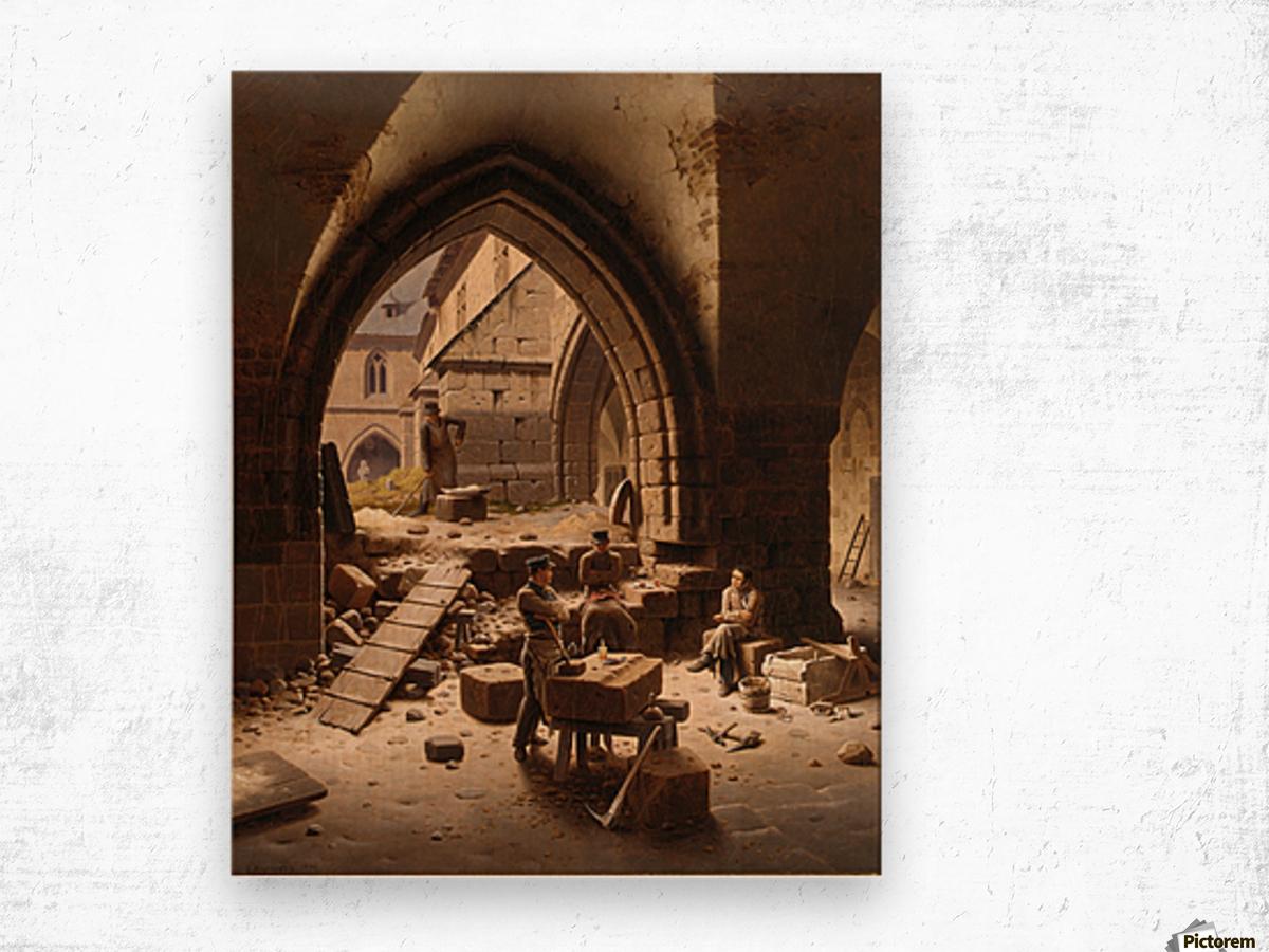 Partie des Kreuzgange der Liebfrauenkirche Wood print