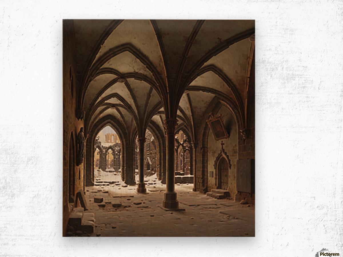 Die Ruine des Klosters Walkenried im Winter Wood print