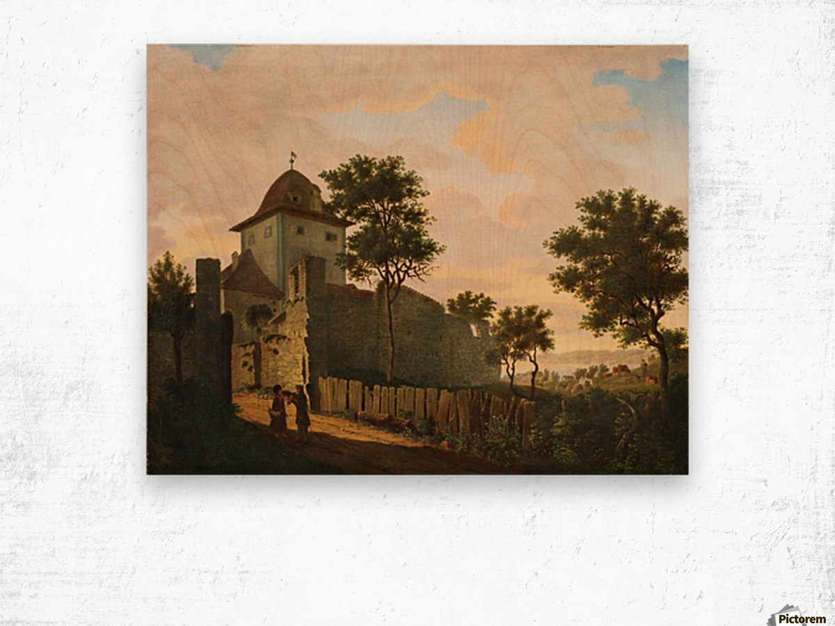 Stadtturm in Uberlingen Wood print