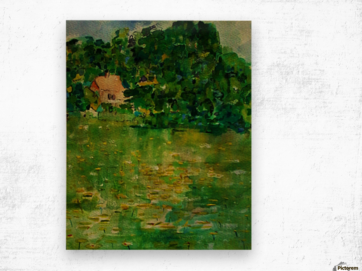 East Well Lake & Royalty Wood print