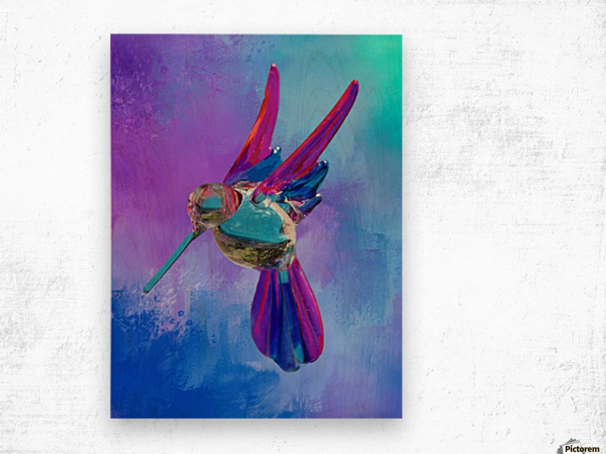 Glass Bird Abstract  Wood print