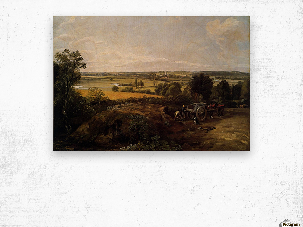 The Stour-Valley with the Church of Dedham Wood print
